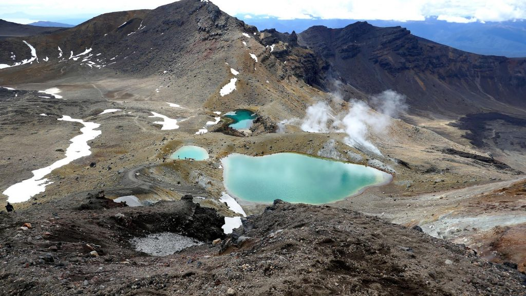 Emerald Lakes In Tongariro Nationaal Park