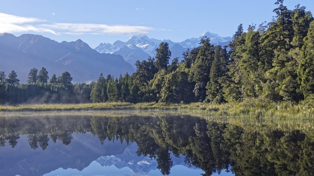 Nieuw Zealand Lake Matheson